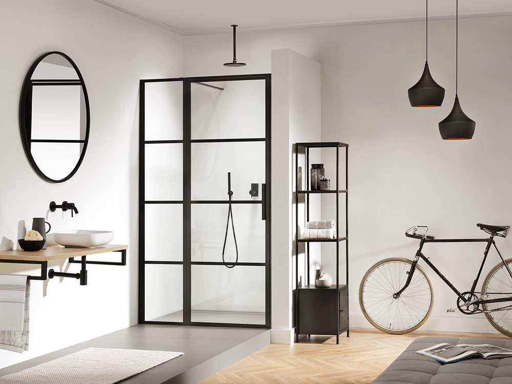 Impey Soho Industrial Style Bathroom Shower Screen