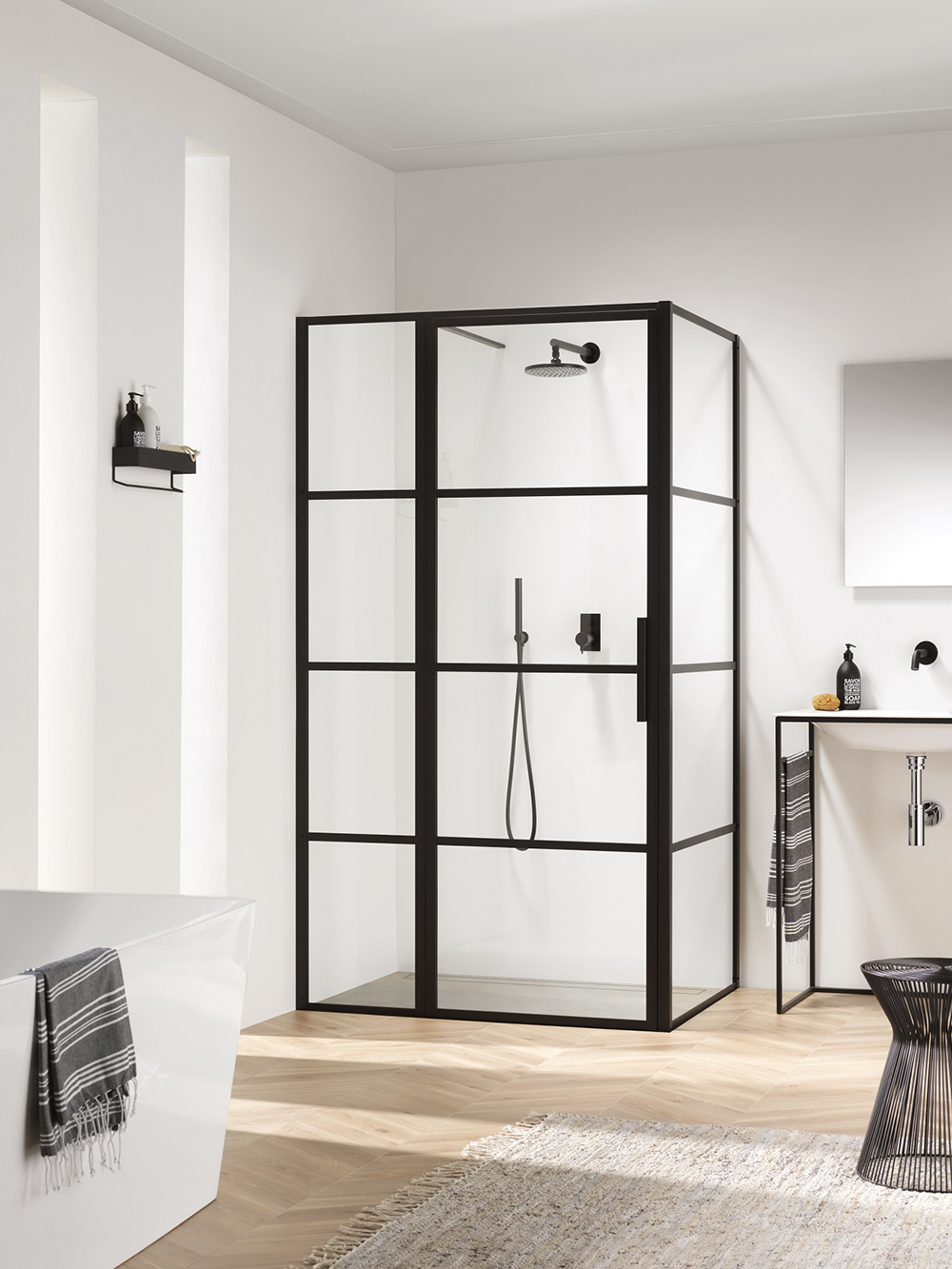 Impey Soho Industrial Style Bathroom Shower Screen